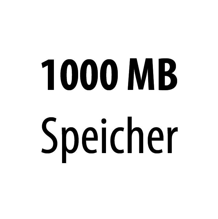 1000 MB Speicher